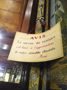 Brasserie Lipp, 151 Boulevard Saint-Germain, Paris.