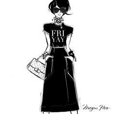 Fashion illustration // Megan Hess