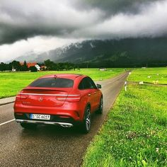 When the road is all yours! Testdriving the GLE 450 AMG Coupé. Photo shot by @santanya. __________ Mercedes-Benz GLE 450 AMG Coupé - Fuel consumption combined: 9.4 - 8.9 l/100 km | CO2 emission: 219 - 209 g/km #MercedesBenz #GLECoupé #GLE450AMG #MercedesAMG #AMG #mbcar #mbfanphoto #mbpressdrive #GLE #redcars