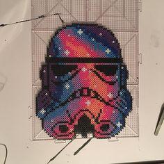 Stormtrooper Star Wars perler beads by beckarenee