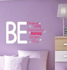 Girl Vinyl Wall Decals Teen Saying Bedroom Decor