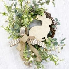 Learn to make your own elegant Spring & Easter Wreaths