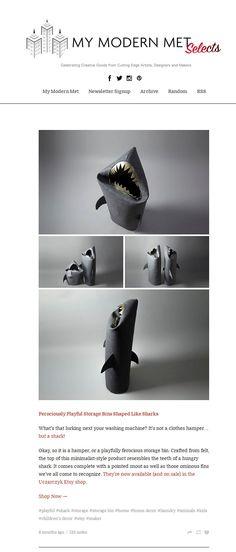 My Modern Met about my Shark Basket :)