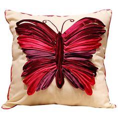 Clássico de algodão borboleta fronha decorativa – BRL R$ 44,67