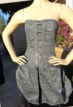 Doctor Who Damask Corset with Bustle by Mad.Girl Clothing. $295.00, via Etsy.