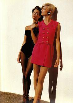 Chanel 1991  Photographer: Karl Lagerfeld  Models: Christy Turlington & Linda Evangelista