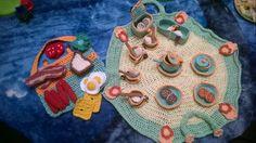 Crochet breakfast set