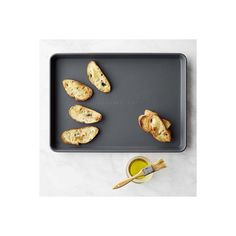 Williams-Sonoma Protouch Nonstick Half Sheet Pan ($60) ❤ liked on Polyvore featuring home, kitchen & dining, bakeware, cookie sheet, nonstick cookie sheet, nonstick baking sheet, cookie pan and cookie baking sheet