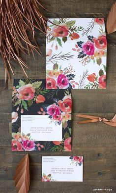 Watercolor Floral Mailing Labels
