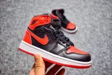 "best service 5985a 03904 2017 Cheap Kids Air Jordan 1 ""Banned"" Black Varsity Red-White. Nike Sneakers Nike Basketball ShoesNike ..."