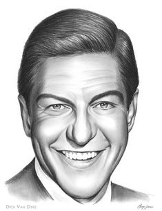 Dick Van Dyke - A pencil sketch by artist Greg Joens