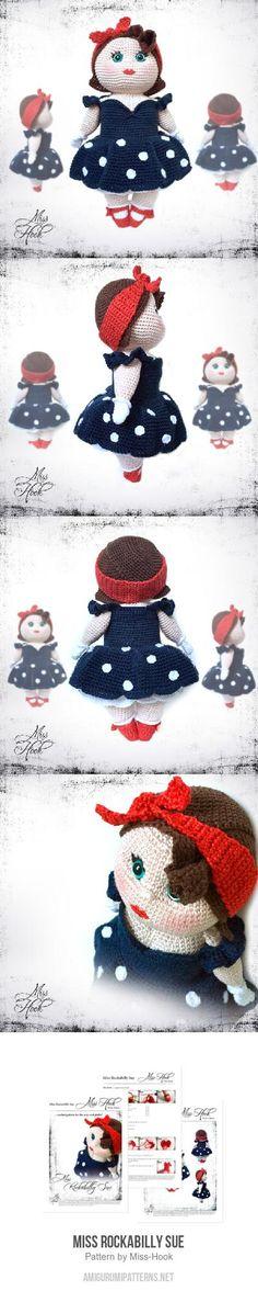 Miss Rockabilly Sue amigurumi pattern