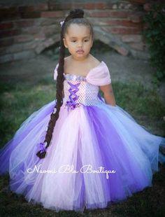 Disney Inspired Rapunzel Tangled Tutu Dress. Great for by NaomiBlu