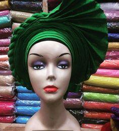 Items similar to New African Auto-gele// Ready to wear gele, Nigerian gele African headpiece on Etsy African Dresses For Women, African Wear, African Attire, African Fashion, Women's Fashion, Fascinator, Headpiece, African Head Wraps, African Traditional Dresses