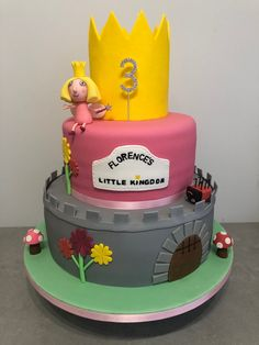Ben and Holly's little kingdom themed cake. Ben And Holly Cake, Ben E Holly, Sally Ann, Cakes Today, My Son Birthday, Cake Makers, Frozen Cake, Occasion Cakes, Celebration Cakes