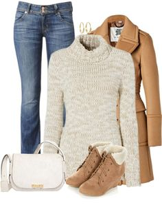Take a look at 21 casual warm winter outfits to try right now in the photos below and get ideas for your own outfits! Cozy outfit for fall and winter. Casual Winter Outfits, Winter Fashion Outfits, Look Fashion, Autumn Winter Fashion, Prep Fashion, Mens Winter, Fashion Dresses, Polyvore Outfits, Moda Polyvore