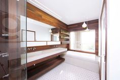 9 Aligned Tips: Bathroom Remodel Kitchen Cabinets bathroom remodel cost kitchen countertops.Bathroom Remodel Cost Kitchen Countertops easy bathroom remodel home improvements. Half Bathroom Remodel, Bathroom Renovations, Wooden Bathroom, Small Bathroom, Master Bathroom, Vanity Bathroom, Basement Bathroom, White Bathroom, Bathroom Wall