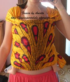 Baby wrap / Fascia lunga Lunga 5m larga 60cm, da legare. Cotone 100% , tessuto afro tipo batik, 40 euro
