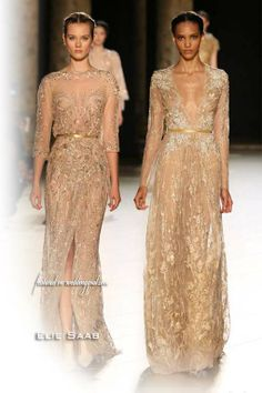Gallery, Elie Saab Fall Winter 2012 2013 Couture Gold Long Sleeve Dresses: Elie Saab Fall/Winter 2012-2013 Couture