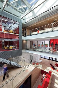 44 Ideas Stairs Office Lobby For 2019 Interior Design Magazine, Best Interior Design, Corporate Interiors, Office Interiors, School Architecture, Interior Architecture, Atrium Design, Recycled House, Office Lobby