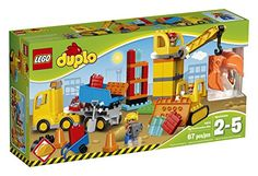 LEGO DUPLO Town Big Construction Site 10813 Preschool PreKindergarten Large Building Block Toys for Toddlers