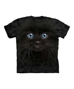 Another great find on #zulily! Black Kitten Face Tee - Toddler, Kids, Adult & Plus #zulilyfinds