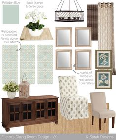 Mood Boards // A Welcoming & Relaxing Living Room, Kitchen, and Dining Room - K Sarah Designs