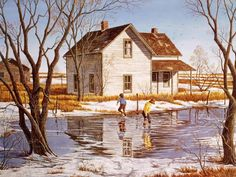 Title: Enjoying The Spring Thaw  Image Size (in.): 16 x 22  Edition Size: 595  Frameable Art Card available