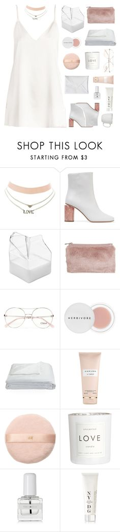"""sweet creature ♡"" by fxrever-isnt-for-everyone ❤ liked on Polyvore featuring Charlotte Russe, Acne Studios, Brickell, Miss Selfridge, Chloé, Herbivore, Frette, Carven, H&M and tenoverten"