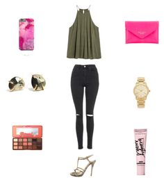 """""""Untitled #3464"""" by maddie-urban ❤ liked on Polyvore featuring Alexander McQueen, Topshop, Kate Spade, Michael Kors, Beauty Rush and Too Faced Cosmetics"""