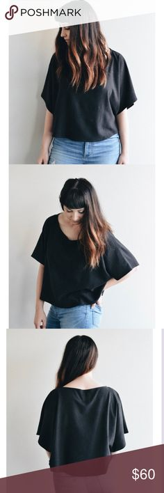 Jamie + the Jones Blank Canvas Top Jamie + the Jones Blank Canvas Top in Black Size Small jamie and the jones Tops Crop Tops Blank Canvas, Capsule Wardrobe, Bell Sleeve Top, Product Description, Crop Tops, Womens Fashion, Closet, Things To Sell, Black
