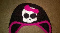 Handmade crochet Monster High hat. by darstar5 on Etsy