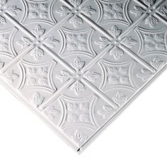 Armstrong Ceilings Common X Actual Tincraft Homestyle White Patterned Drop Acoustic Panel Ceiling Tiles