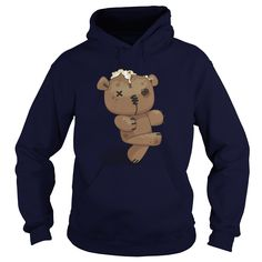 Zombie Teddy Bear. Funny Zombie Quotes, Sayings T-Shirts, Hoodies, Tees, Clothing, Gifts. #sunfrog