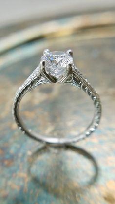 Wedding Rings Simple, Silver Wedding Rings, Wedding Rings Vintage, Diamond Wedding Rings, Diamond Rings, Best Wedding Rings, Wedding Ring Set, Types Of Wedding Rings, Engraved Wedding Rings