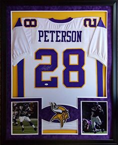 Adrian Peterson Framed Jersey Signed JSA COA Autographed Minnesota Vikings  Oklahoma 82aa3baaa