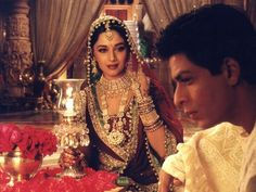Stunning Madhuri Dixit with the infamous Devdas.