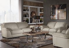 Cindy Crawford Home Grand Palazzo Beige Leather 3 Pc Living Room . $1,888.00.  Find affordable Leather Living Rooms for your home that will complement the rest of your furniture.