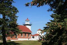 Historic 1883 Lighthouse at Sherwood Point, Idlewild, Wisconsin