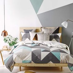 Linen House Ethan Blue Quilt Cover Set ! Ethan features a translucent geometric design in tonal hues printed on a luxurious cotton sateen and is finished with cord piping. Complete this modern look with our matching European pillowcases and cushions in similar tones. #towel #manchester #homewares #interiordesign #living #bedroom #decor #fashion #linen #bedlinen #summer #modern #bedding #homedecor #style #bathroom #life #picoftheday #shopping #fashion #love #pretty #beautiful…