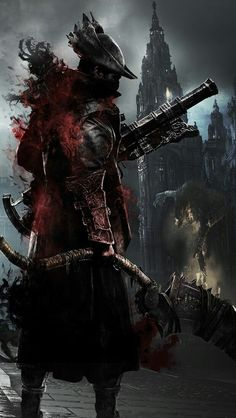 Fear the Old Blood-Bloodborne Fantasy Armor, Dark Fantasy Art, Dark Art, Arte Dark Souls, Soul Saga, Bloodborne Art, Bb Beauty, Old Blood, Video Game Art