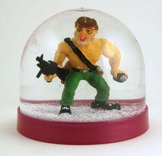 1980s Rambo Sylvester Stallone Big  Snowglobe Snowdome | eBay