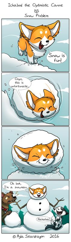 Ichabod the Optimistic Canine :: Snow Problem | Tapastic Comics - image 1