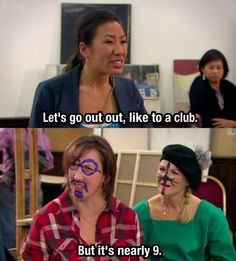 Miranda & Stevie can't keep up with Tamara Miranda Tv Show, Miranda Bbc, British Humor, British Comedy, Miranda Hart Quotes, Miranda Hart Funny, Comedy Tv, Film Quotes, Club