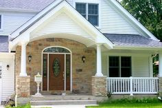 house exteriors with stone and siding | Chicago Are Exterior Stone Siding Transformation