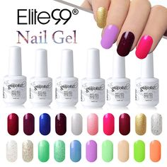 Elite99 15ml Soak Off UV Gel Nail Polish Semi Permanent Nail Gel Varnishes Lacquer Fashion Design Nail Art Manicure Gelpolish //Price: $8.99 & FREE Shipping //     #GAMES