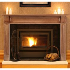 Pearl Mantels Alamo Wood Fireplace Mantel Surround