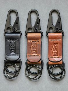 Greg Stevens Design EDC Keyhcain Fob Horween XL Leather