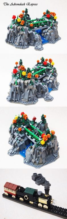 The Adirondack Express #LEGO #microscale #train