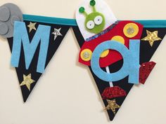 Sparkly space theme bunting by Bettybuntings on Etsy https://www.etsy.com/uk/listing/292266437/sparkly-space-theme-bunting